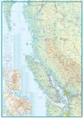 British Columbia South Travel Reference map